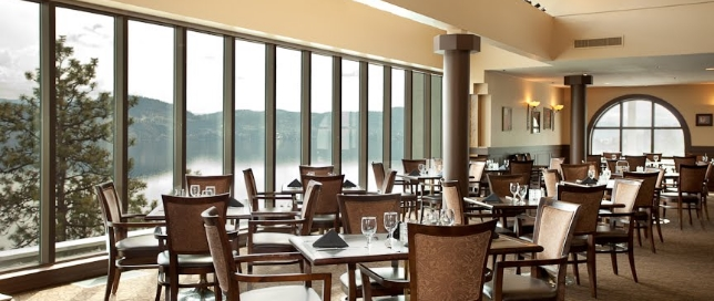 OBC Bistro With Large Window View Of Okanagan Lake