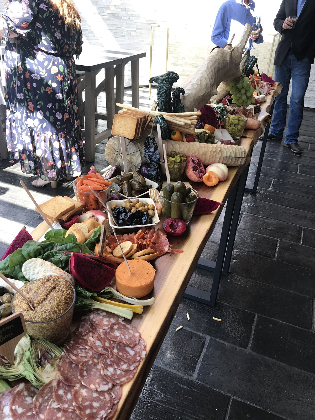 Another Angle Of The Large Charcuterie Board And Appetizers Made By Chef Andrew Jacek