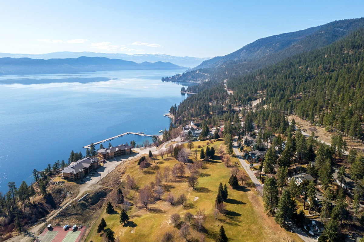 Aerial View Of Okanagan Beach Club